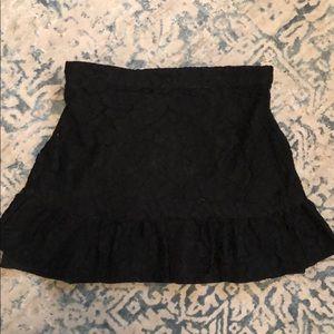 J.crew black lace mini skirt with stretch waist 8